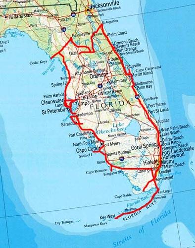 Karte Florida Miami.Florida 2005